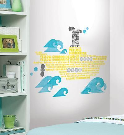 Beatles Yellow Submarine Lyrics Peel & Stick Giant Wall Decals