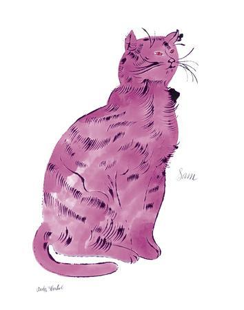 """Cat From """"25 Cats Named Sam and One Blue Pussy"""", c.1954 (Pink Sam)"""