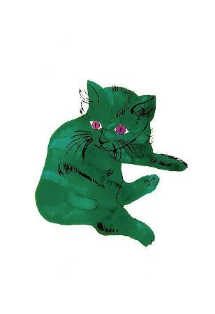 "Cat From ""25 Cats Named Sam and One Blue Pussy"" , c. 1954 (Green Cat)"