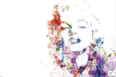 Marilyn Monroe - Paint Splatter Pop Art