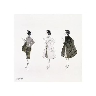 Three Female Fashion Figures, c. 1959