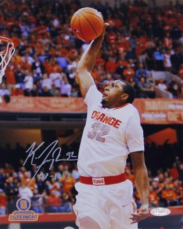 Kris Joseph Syracuse White Jersey Dunk Autographed Photo (Hand Signed Collectable)