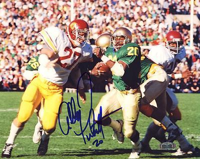 Allen Pinkett ND Run vs USC Autographed Photo (Hand Signed Collectable)