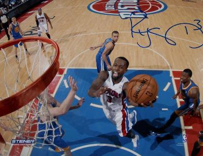 Rodney Stuckey Detroit Pistons at the Basket Signed Autographed Photo (Hand Signed Collectable)
