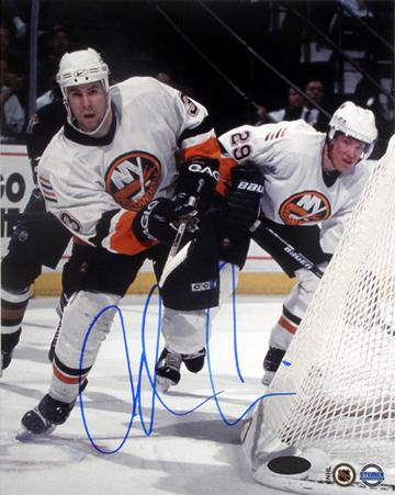 Adrian Aucoin Behind Net Autographed Photo (Hand Signed Collectable)