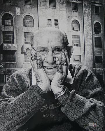 "Yogi Berra Signed Rings Vertical w/ ""HOF 72"" Insc."