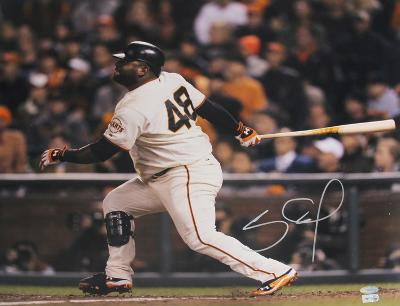 Pablo Sandoval Signed 2012 WS After Swing Autographed Photo (Hand Signed Collectable)