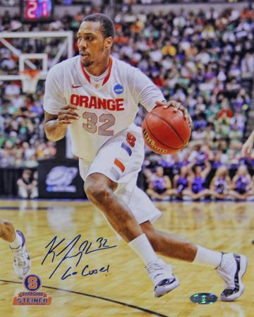 """Kris Joseph Syracuse White Jersey Drive """"Go Cuse"""" Insc. Autographed Photo (H& Signed Collectable)"""