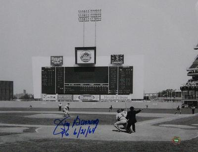 """Jim Bunning w/ """"PG 6/21/64"""" Insc. Autographed Photo (Hand Signed Collectable)"""