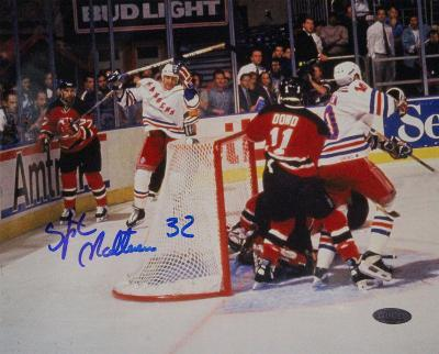 Stephane Matteau Game Winning Goal Game 7 EC Finals Autographed Photo (Hand Signed Collectable)
