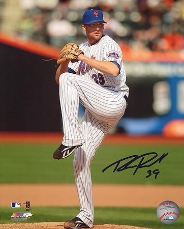 Bobby Parnell Mets Pitching Color Autographed Photo (Hand Signed Collectable)