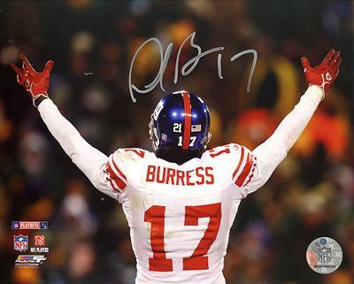 Plaxico Burress NFC Championship Game Celebration Autographed Photo (Hand Signed Collectable)