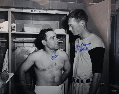 Yogi Berra/Jim Bunning Signed Autographed Photo (Hand Signed Collectable)