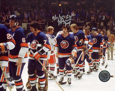 J.P. Parise Islanders After Eliminating Rangers Autographed Photo (Hand Signed Collectable)