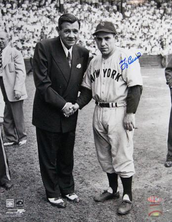 Yogi Berra Signed w/ Babe Ruth Autographed Photo (Hand Signed Collectable)