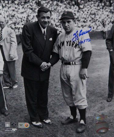 """Yogi Berra Signed w/ Babe Ruth w/ """"HOF 1972"""" Insc Autographed Photo (Hand Signed Collectable)"""