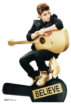 Justin Bieber Believe with Guitar Lifesize Standup Poster