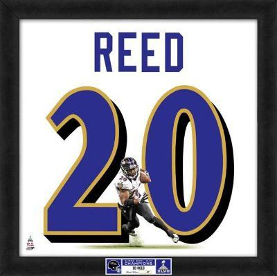 Super Bowl XLVII Champions - Ravens, Ed Reed representation of player's jersey