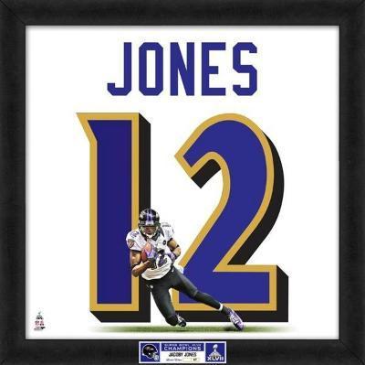 Super Bowl XLVII Champions - Ravens, Jacoby Jones representation of player's jersey
