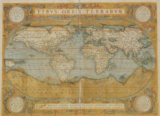 Mappa Del Mondo Antique Style World Map Poster Print At Allposters Com