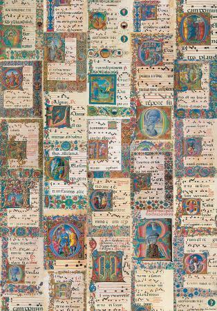 Codici Miniati (Illuminated Manuscript) Antique Style Collage Poster
