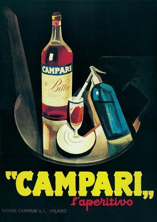 Campari - Vintage Style Advertisement Poster
