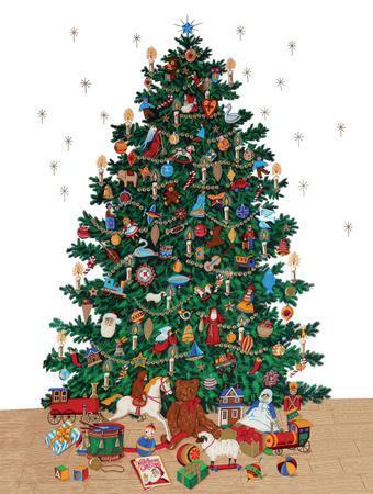 Christmas Tree - Vintage Style Italian Poster