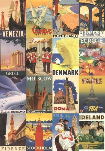 0143 Vintage Travel Poster Paris