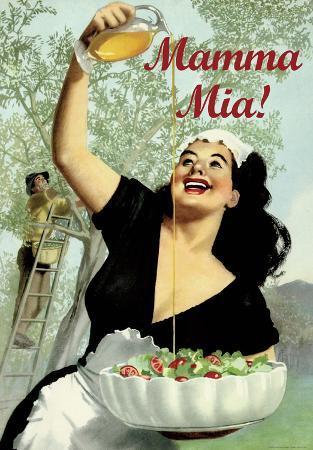 Mamma Mia - Vintage Style Italian Poster