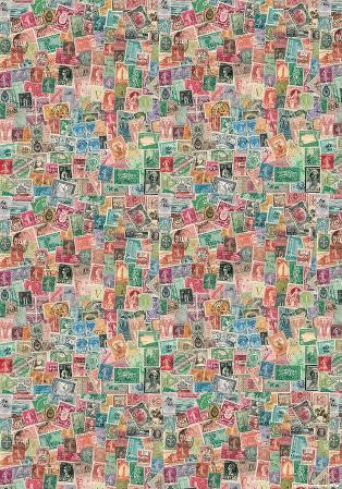 Francobolli (Italian Stamp Collage) - Vintage Style Italian Poster