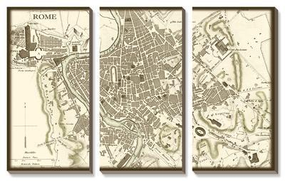 Sepia Map of Rome