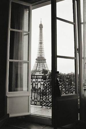Eiffel Tower through French Doors