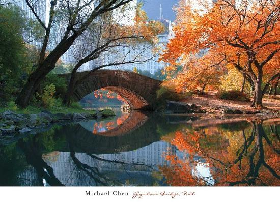 Gapstow Bridge, Fall Poster by Michael Chen at AllPosters.com