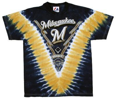 Youth: MLB- Milwaukee Brewers V-Dye