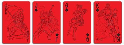 Red Deck of Playing Cards