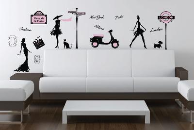 Fashion Street Wall Decal Sticker