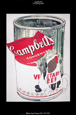 Big Torn Campbell's Soup Can (Vegetable Beef)