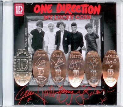 One Direction Lucky Coin Set - Signatures