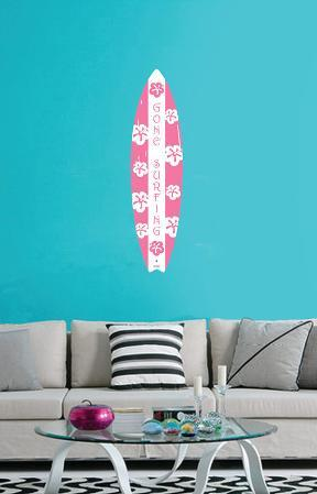Going Surfing Pink Wall Decal Sticker
