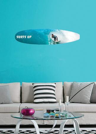 Surfs Up Wall Decal Sticker
