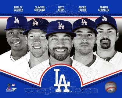 MLB Los Angeles Dodgers 2013 Team Composite