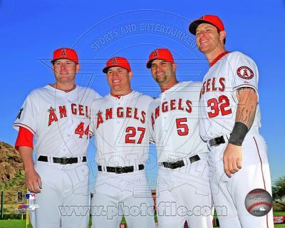 Mark Trumbo, Mike Trout, Albert Pujols, & Josh Hamilton 2013 Posed