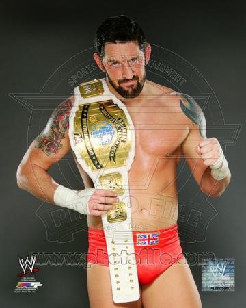 Wade Barrett with the Intercontinental Championship Belt 2012 Posed