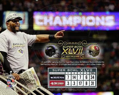 Ray Lewis Super Bowl XLVII Champion Overlay
