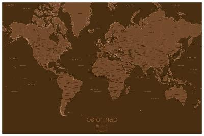 Color Map - Chocolate - Map Poster