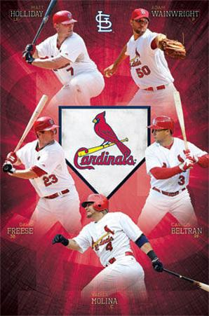 St Louis Cardinals Team Baseball Poster