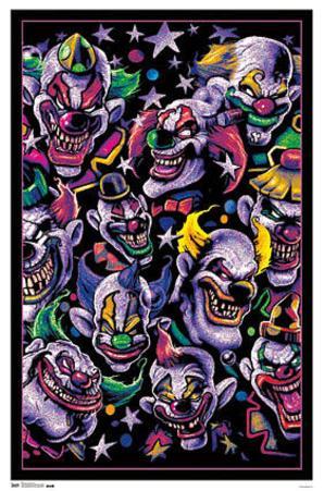 Clown Universe Fantasy Blacklight Poster