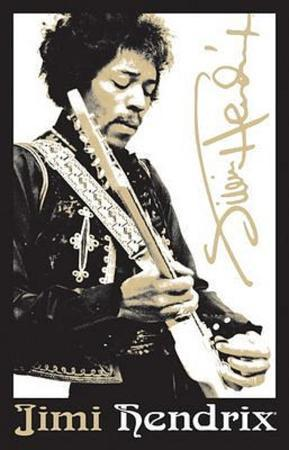Jimi Hendrix Guitar Blacklight Poster