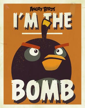 Angry Birds - The Bomb Tin Sign