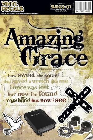 Amazing Grace Vinyl Decal